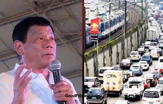 Duterte on Commuters problem: 'My crisis begins with EDSA'