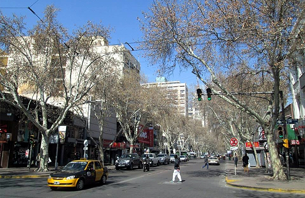 Centro de Mendoza na Argentina