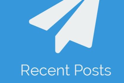 Cara Menambahkan Widget Recent Post Minimalis