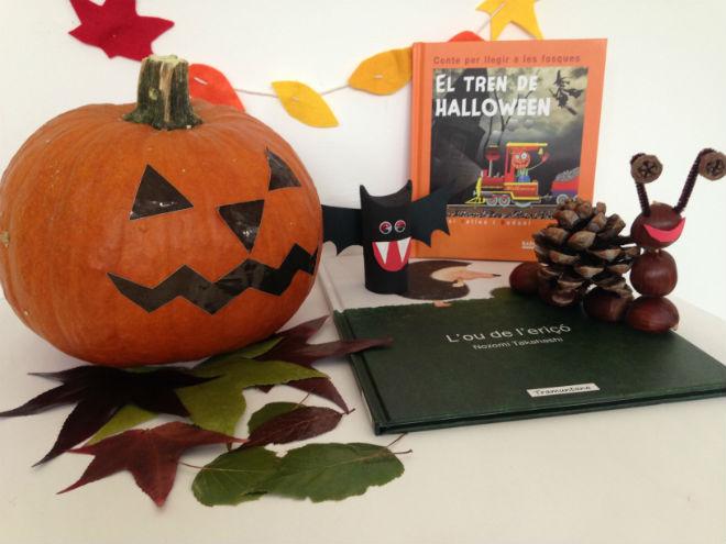celebramos halloween, otoño, castañada
