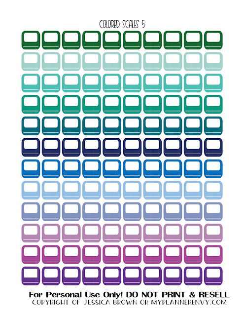 Free Printable Colored Bathroom Scales 5 from myplannerenvy.com