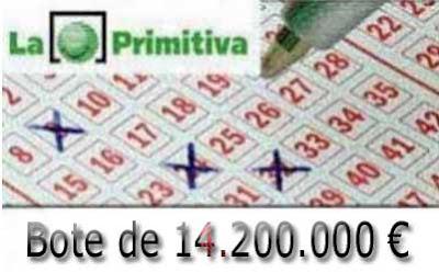 loteria primitiva del jueves 16 de marzo 2017