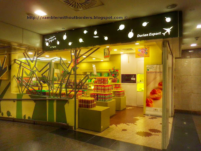 Durian specialty shop at T2 of Changi Airport.