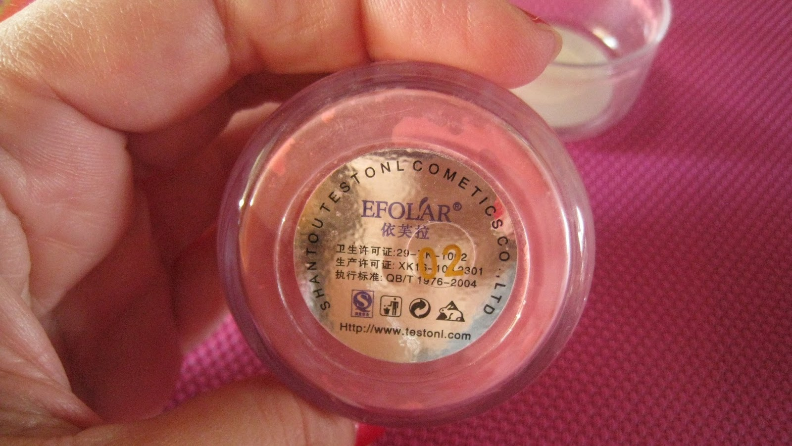 Efolar Bright Blush Bb Cream Makeup Blusher Mineral Powder Puff Peach Pink 02 Bioaqua On Cushion Flawless Cheek I Got This In The Color Shimmer