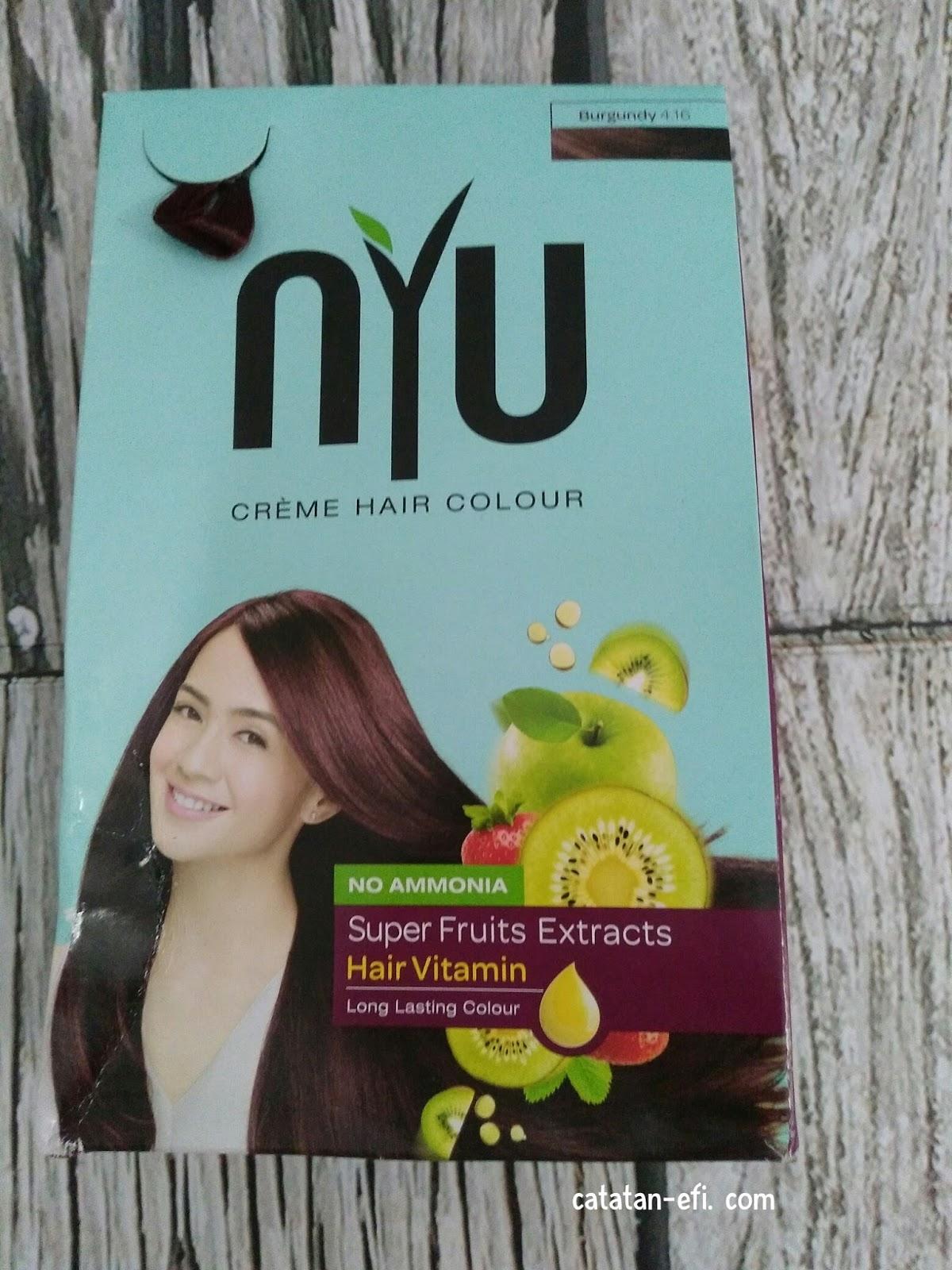 Unboxing Nyu Crme Hair Colour Catatan Efi Sisir Cat Semir Rambut Beberapa Hari Yang Lalu Saya Mencoba Pewarna Ternyata Wanginya Enak Banget Lho Aromanya Fruity Buah Buahan Segar Bikin Lapar