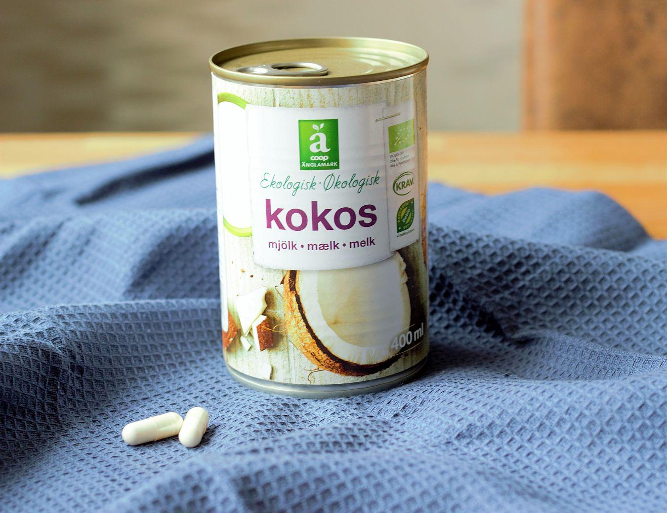 Съставки : кокосово мляко и пробиотици