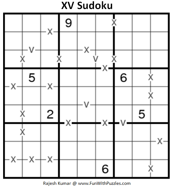 XV Sudoku Puzzle (Fun With Sudoku #230)