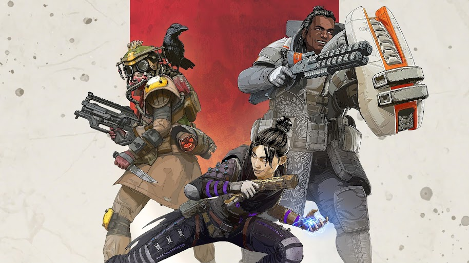Apex Legends, Characters, Wraith, Gibraltar, Bloodhound, 4K, 3840x2160, #21