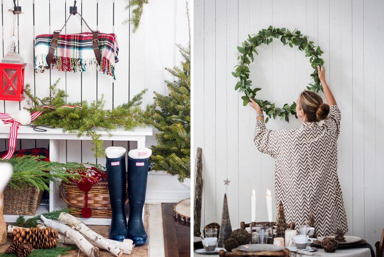 inspiración-mesas-navidad-rojo-blanco-escocés-corona-adviento