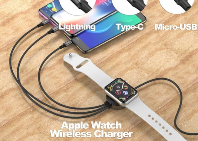 UFour multiple connection charging cable