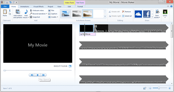 Windows Live Movie Maker (For Windows)