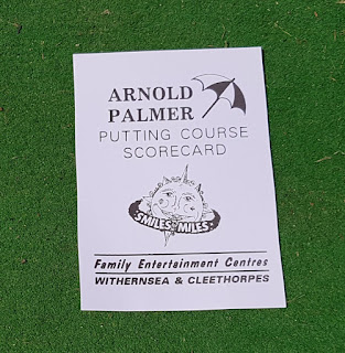 A scorecard from the Arnold Palmer Putting Course in Cleehorpes