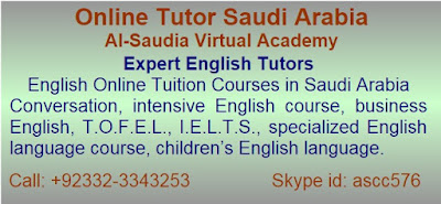 English Online Tuition Courses in Saudi Arabia