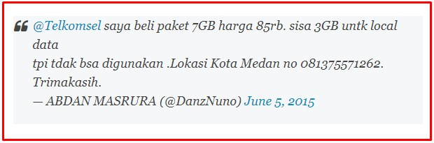 Paket Local Data Telkomsel Yang Mengalami Error 2019 2