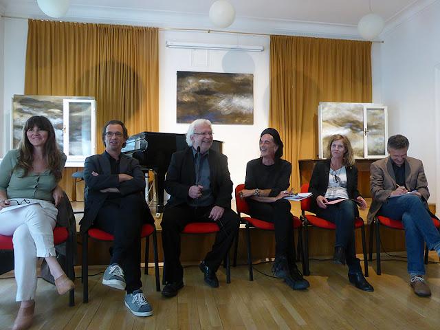 Ursula Ungerböck, Leo Hemetsberger, Helmut David, Ecki Stieg, Claudia Schumann, Marin Kainz @ More Ohr Less 2016 / photo S. Mazars