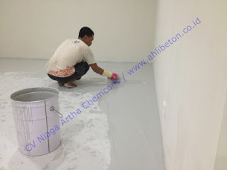 cat lantai epoxy bangunan ruko untuk gudang