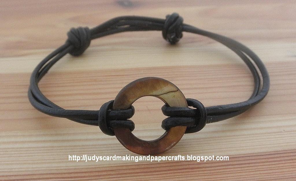 Judy S Handmade Creations Leather Cord Sliding Knot