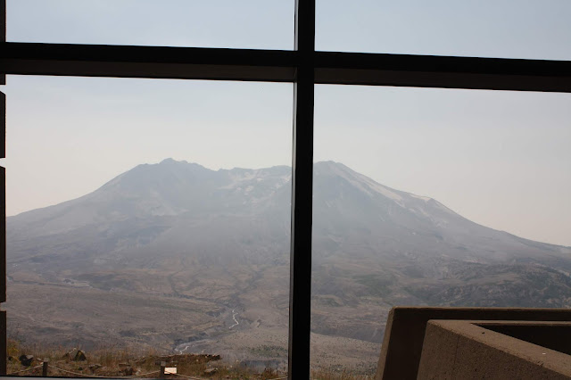 View of the crater of Mount St. Helens from the Johnston Ridge Observatory.