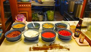 Thai street food soup counter