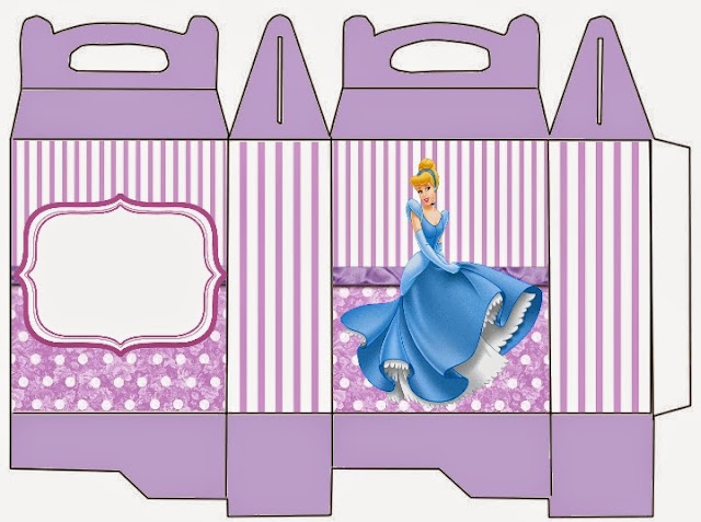 Cinderella in Purple: Free Printable Lunch Box.