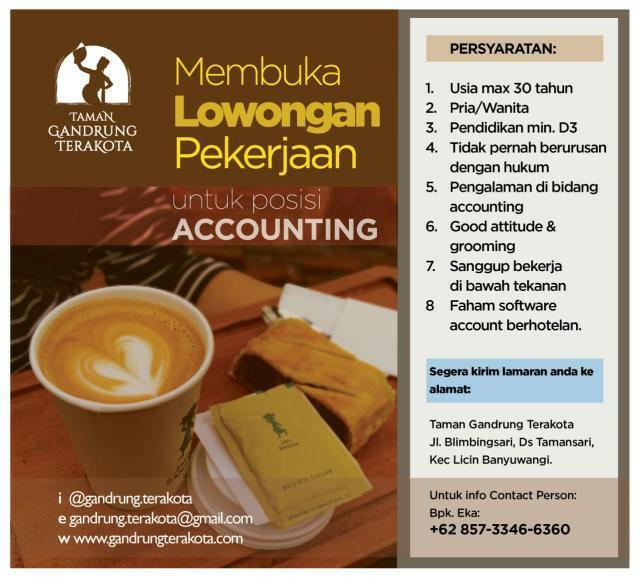 Lowongan Kerja Accounting Taman Gandrung Terakota
