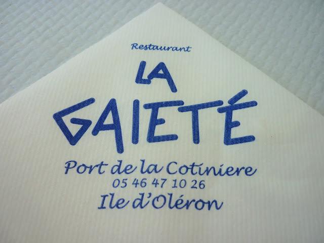 Restaurant La Gaieté La Cotinière - L'île d'Oléron - Charente Maritime - France