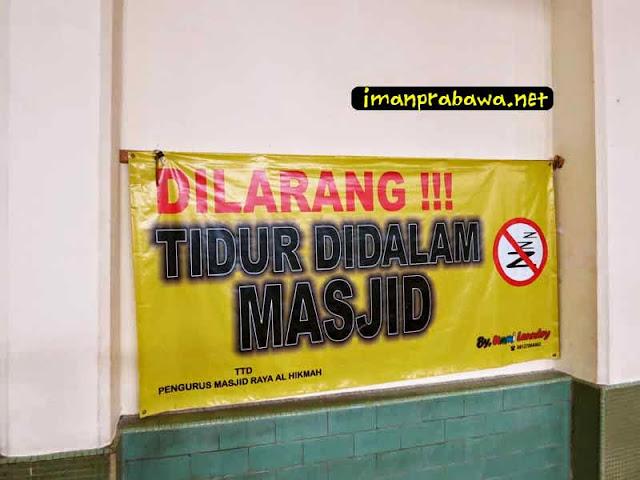 Dilarang Tidur Di Dalam Mesjid