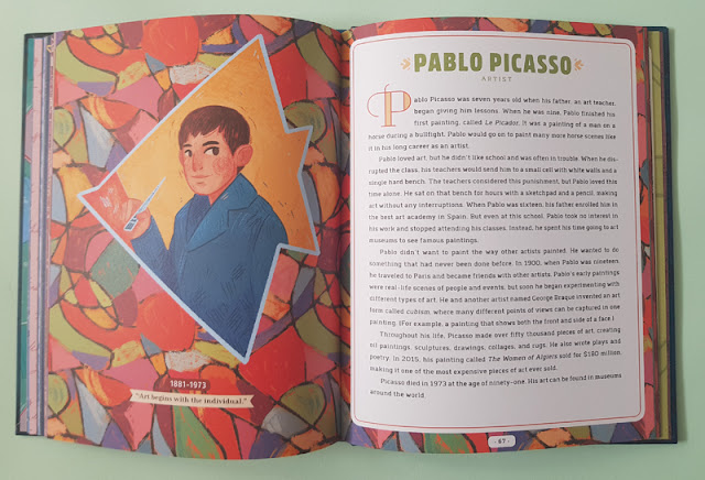 The story of Picasso in the Never too Young! children's book