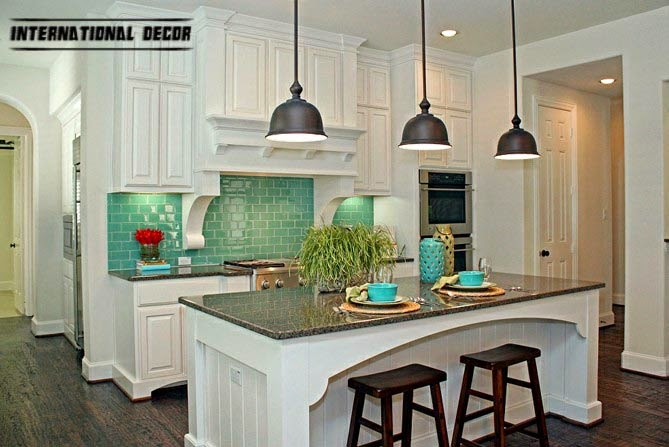 turquoise kitchen interior design