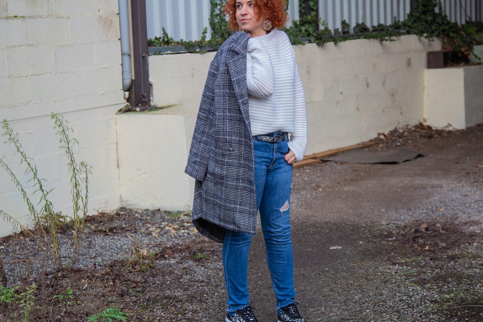Le manteau a carreaux oversize Promod