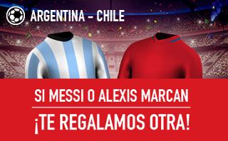 sportium promocion Argentina vs Chile 24 marzo