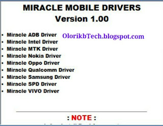 Latest All In 1 Miracle Box Mobiles Driver Ver 1.0