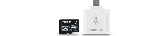 東芝「MSV-RW」は、android向けのSeeQVault対応microSDカード