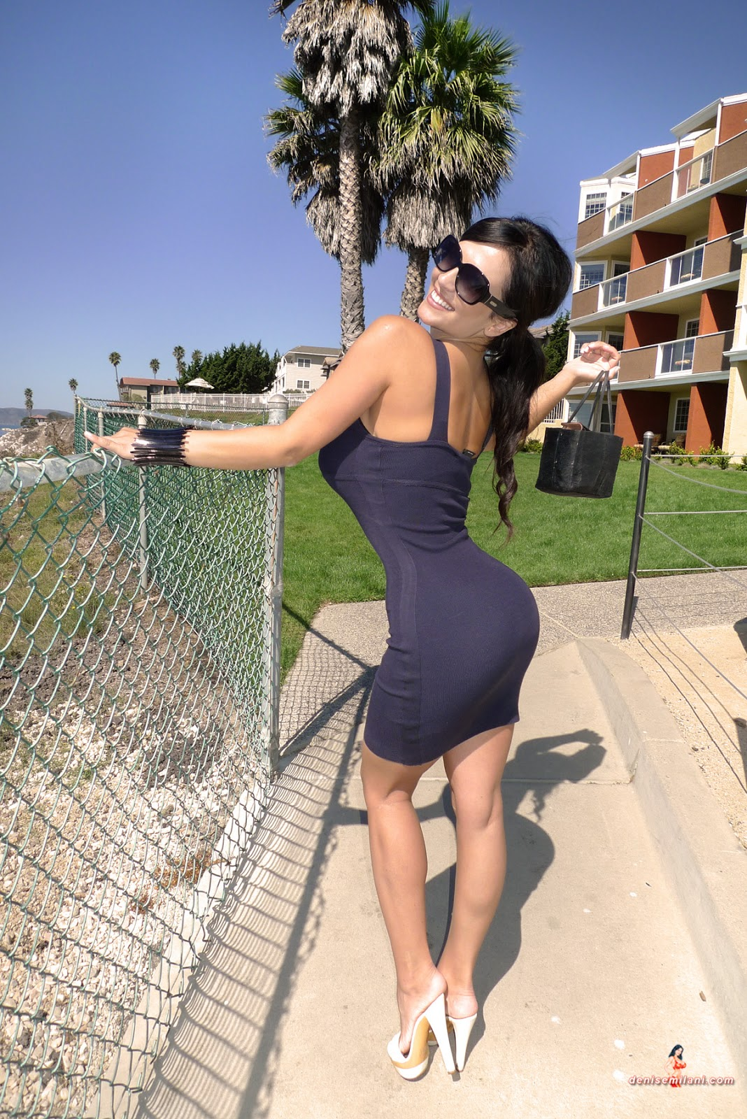 denise milani in a dress - photo #29