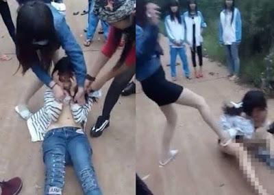 Remaja Putri Ini Dipukuli dan Ditelanjangi Teman Sekolahnya di Tengah Jalan