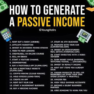 Làm thế nào để có được các nguồn thu nhập thụ động