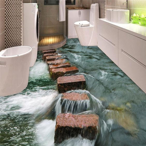 Sàn 3D suối nước