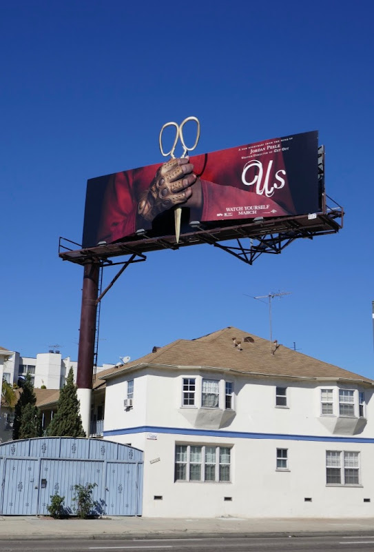 Us movie 3D Scissors billboard