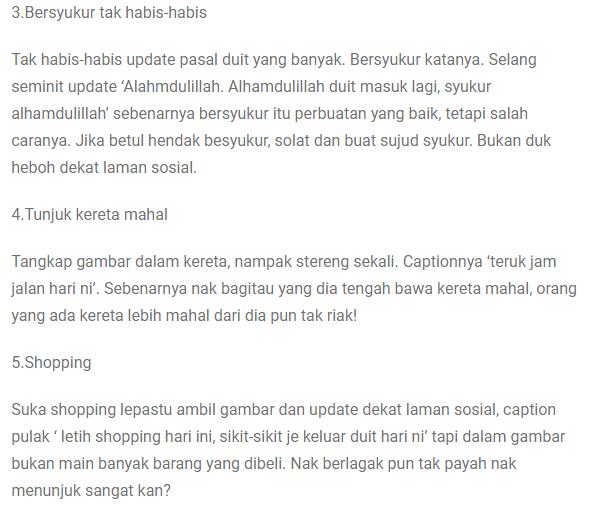 Inilah 7 Perbuatan Riak Yang Sentiasa Kita Buat Tanpa Kita Sedari Nombor 3 Tu Yang Kerap Kita Lakukan Kabar Malaysia Today