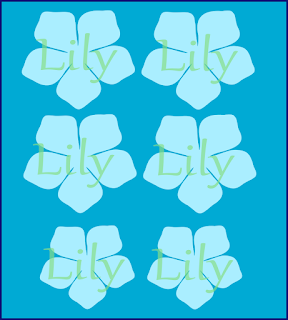 lily paper flower pattern and templates