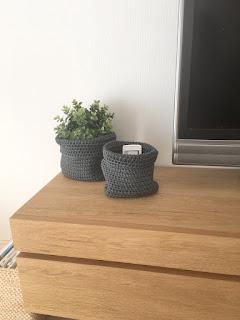 IKEA NORDRANA バスケット2点セットをリビングに置く
