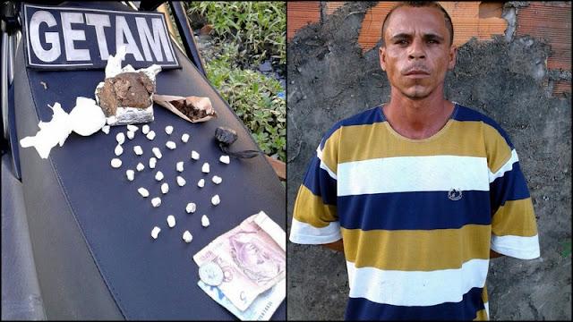 Suspeito de tráfico é preso pelo GETAM em Aracaju