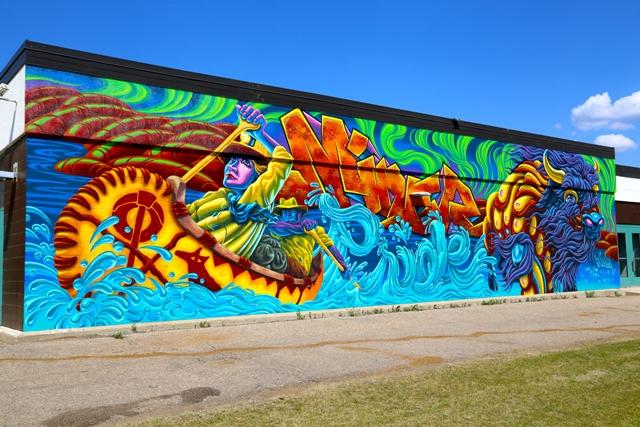 Wood buffalo culture graffiti abatement mural program for Extra mural program