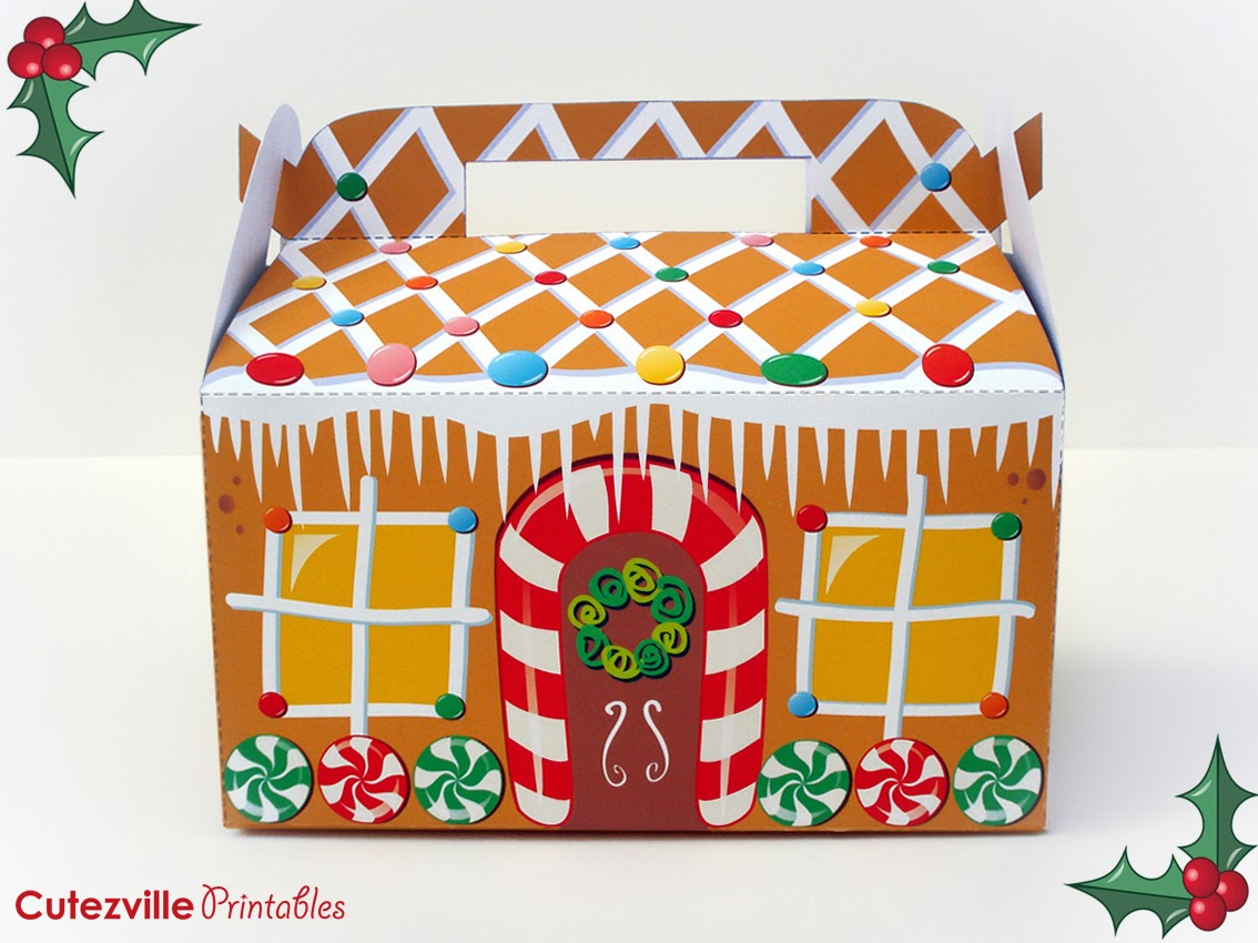 Cutezville Printables Gingerbread House D I Y