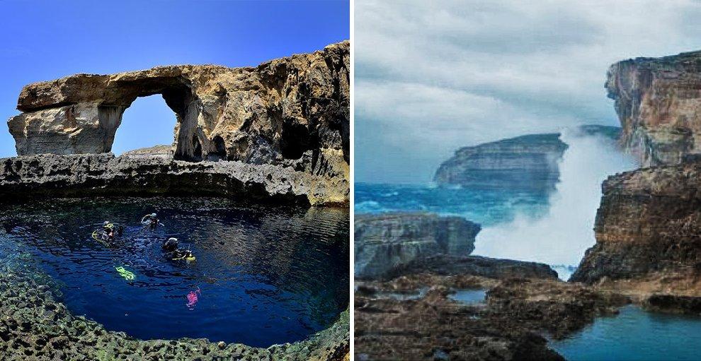 Reportages il maltempo abbatte la famosa finestra - Malta finestra azzurra ...