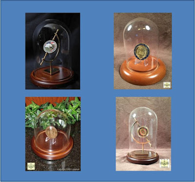 Glass Domes with Stands to display challenge coins
