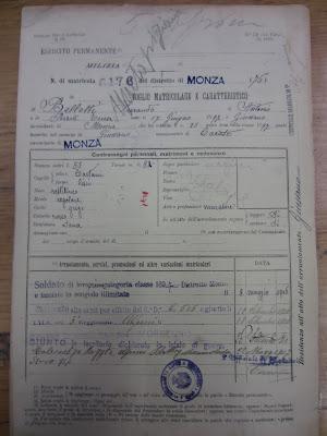 SCARICARE FOGLIO MATRICOLARE