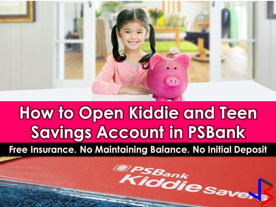 In a world full of material things, it is really important to teach our children on how to save money. Saving in piggybank has been a tradition in the Philippines, but we can level this up by opening a savings account for our children and encourage them to save until they grow up. Eventually, the money they saved in the bank can be used in their college education or as a start-up capital for a small business.   If you are interested in opening a savings account for your kids PS bank offers Kiddie and Teen Savings Account where clients can open an individual, joint or In Trust For (ITF) accounts for their children's savings. This could be the best account to save money for your children. We all know that PS Bank is one of the best banks to open savings account for kids.