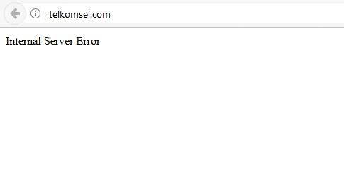 Tampilan Telkomsel.com saat ini