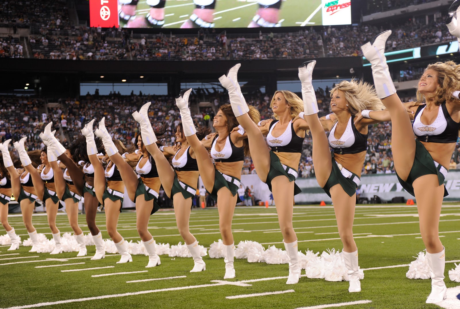 New York Jets Logo Cheerleaders Wallpaper I Celebes